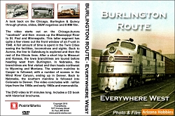Burlington Route-Everywhere West DVD and CD book