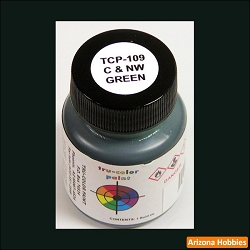 Chicago & North Western GREEN 1 oz. Tru-Color Paint (air brush ready)