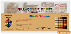 Flesh Tones Flat and Brush-able Paint Set of 6 bottles