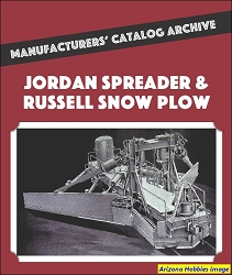 Jordan Spreaders & Russell Snowplows Manufacturers' Catalog Archive