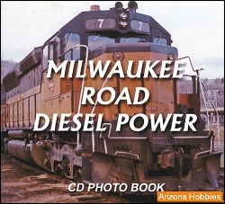 Milwaukee Road Diesel Power Photo CD Book