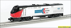 O-27 Scale Amtrak GE Phase 1 Genesis Anniversary #156 Williams FREE USA Shipping (see description)
