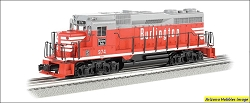 O-27 Scale Burlington Route GP30 #974 Williams FREE USA Shipping (see description)