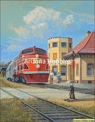 Waxahachie Whistlestop: The Texas Rocket at Waxahachie, Texas original painting