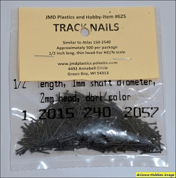 Track Nails for HO or N scale track - 500 per package