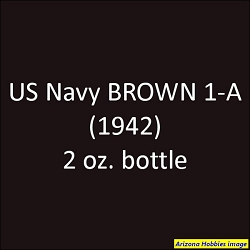 U.S. Navy BROWN 1-A (landing craft 1941-1942) 2 oz.