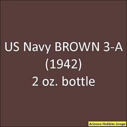 U.S. Navy BROWN 3-A (1941-1942) 2 oz.