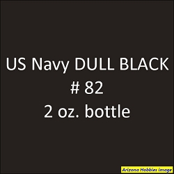 U.S. Navy DULL BLACK No. 82 2 oz.