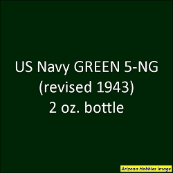 U.S. Navy GREEN 5-NG (1943 revised) 2 oz.