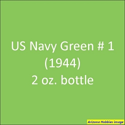 U.S. Navy GREEN No. 1 (1944-1945) 2 oz.