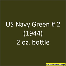 U.S. Navy GREEN No. 2 (1944-1945) 2 oz.