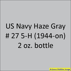 U.S. Navy HAZE GRAY 5-H No. 27 (1944-1945) 2 oz.