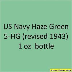 U.S. Navy HAZE GREEN 5-HG (revised 1943) 1 oz.
