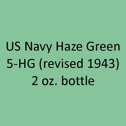 U.S. Navy HAZE GREEN 5-HG (revised 1943) 2 oz.