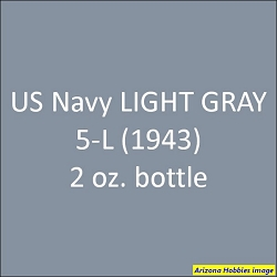 U.S. Navy LIGHT GRAY 5-L (1943 on) 2 oz.