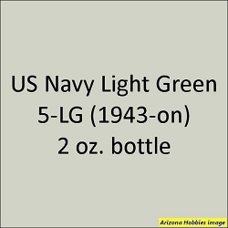 U.S. Navy LIGHT GREEN 5-LG (1943 revised) 2 oz.