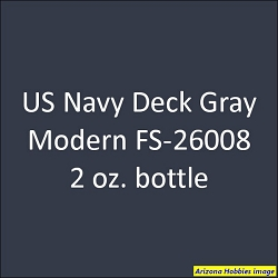 U.S. Navy MODERN DECK GRAY (all other ships) FS-26008 2 oz.