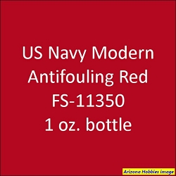 U.S. Navy Modern Anti-Fouling RED 2011-on FS-11350 1 oz.