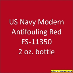 U.S. Navy Modern Anti-Fouling RED 2011-on FS-11350 2 oz.
