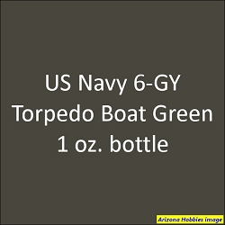 U.S. Navy 6-GY Motor Torpedo Boat GREEN (PT Boats Pacific WWII) 1 oz.
