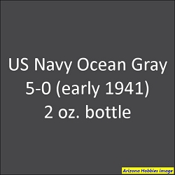 U.S. Navy OCEAN GRAY 5-O (1939-1941) 2 oz.