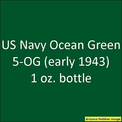 U.S. Navy OCEAN GREEN 5-OG (early 1943) 1 oz.