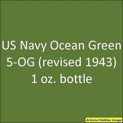 U.S. Navy OCEAN GREEN 5-OG (revised 1943) 1 oz.