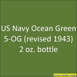 U.S. Navy OCEAN GREEN 5-OG (revised 1943) 2 oz.