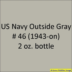 U.S. Navy OUTSIDE GRAY No. 46 (1944-1945) 2 oz.
