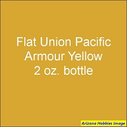 Flat Union Pacific ARMOUR YELLOW 2 oz.