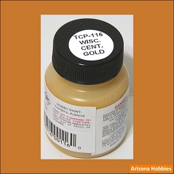 Wisconsin Central GOLD 1 oz. Tru-Color Paint (air brush ready)