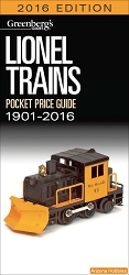 Lionel Trains Pocket Price Guide 1901-2016
