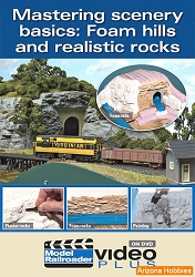 Mastering Scenery Basics: Foam Hills and Realistic Rocks DVD