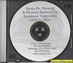 Santa Fe, Prescott & Phoenix Railway Employee Timetables 1893-1921 on CD-Rom PDF