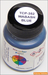 Wabash Railway BLUE 1 oz. Tru-Color Paint (air brush ready)