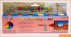 Weathering Colors for Airbrush Paint Set of 6 bottles
